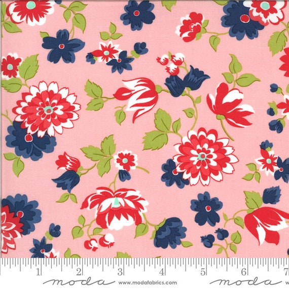 Shine On- 1/2 Yard Increments, Cut Continuously (55211-15 Pink Blossom) by Bonnie and Camille for Moda
