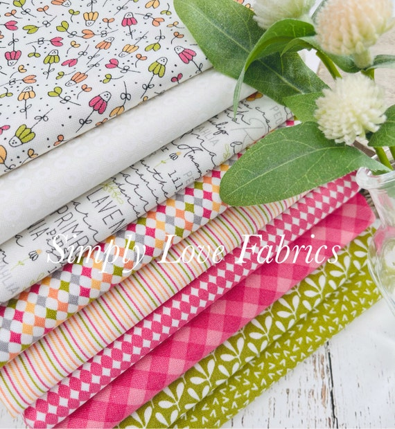 Spring Chicken- 1/2 Yard Bundle (8 Fabrics)  by Sweetwater for Moda