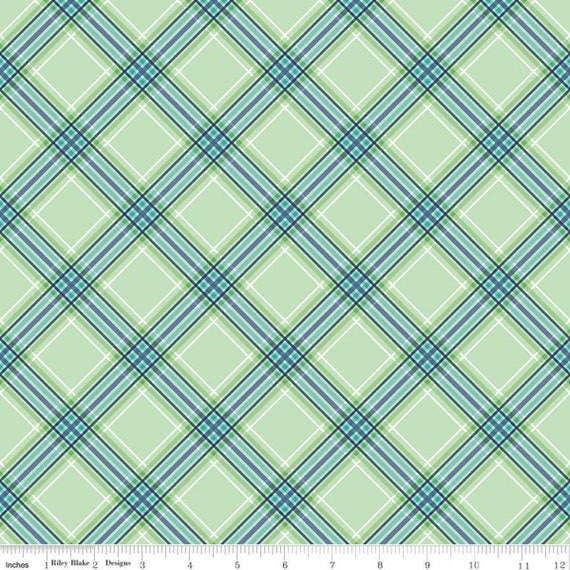 Notting Hill-1/2 Increments, Cut Continuously-(C10204 Green Plaid) by Amy Smart for Riley Blake Designs