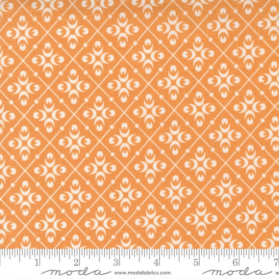 Pumpkins and Blossoms- 1/2 Yard Increments, Cut Continuously  (20423 12 Harlequin - Pumpkin) by Fig Tree & Co. for Moda