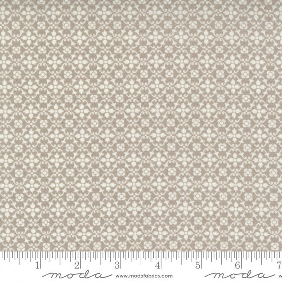 Pumpkins and Blossoms- 1/2 Yard Increments, Cut Continuously  (20426 16 Florence - Pebble) by Fig Tree & Co. for Moda