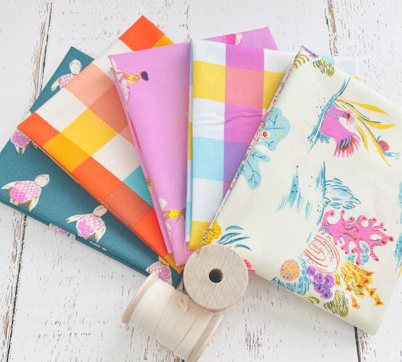 Malibu -Fat Quarter Bundle (5 Fabrics)- Heather Ross for Windham Fabrics