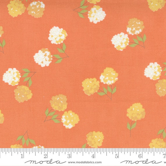 Cozy Up- 1/2 Yard Increments, Cut Continuously (29121 12 Clover Floral Cinnamon) by Corey Yoder for Moda Fabrics