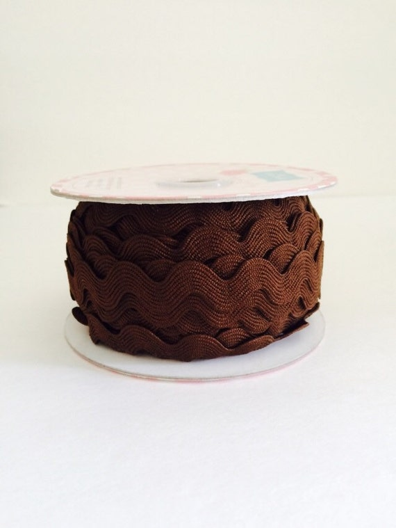 3/4 inch Ric Rac-Brown (5 Yard Bundle) Riley Blake Designs