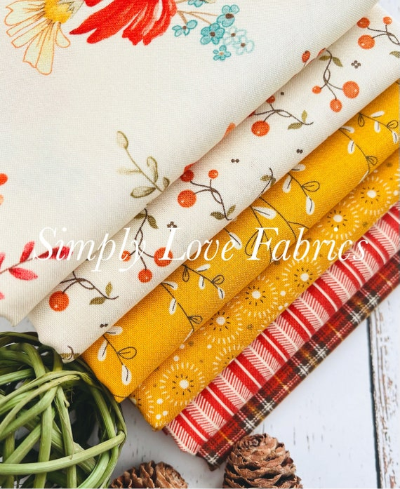Adel in Autumn - 1/2 Yard Bundle (6 Fabrics) by Sandy Gervais for Riley Blake Designs