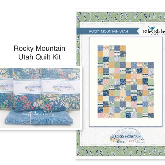 """Rocky Mountain Utah Quilt Kit with Free Pattern- Finished Size 58"""" x 71.5"""""""