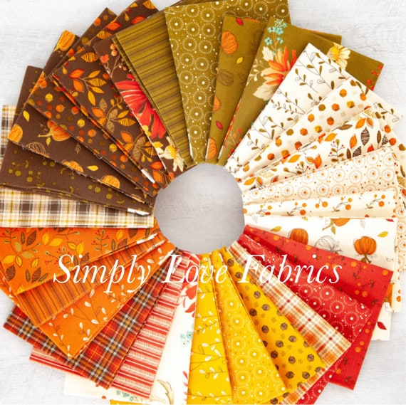 Adel in Autumn - Fat Quarter Bundle (FQ-10820-28) by Sandy Gervais for Riley Blake Designs