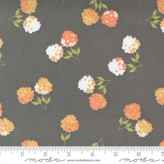 Cozy Up- 1/2 Yard Increments, Cut Continuously (29121 16 Clover Floral Grey Skies) by Corey Yoder for Moda Fabrics