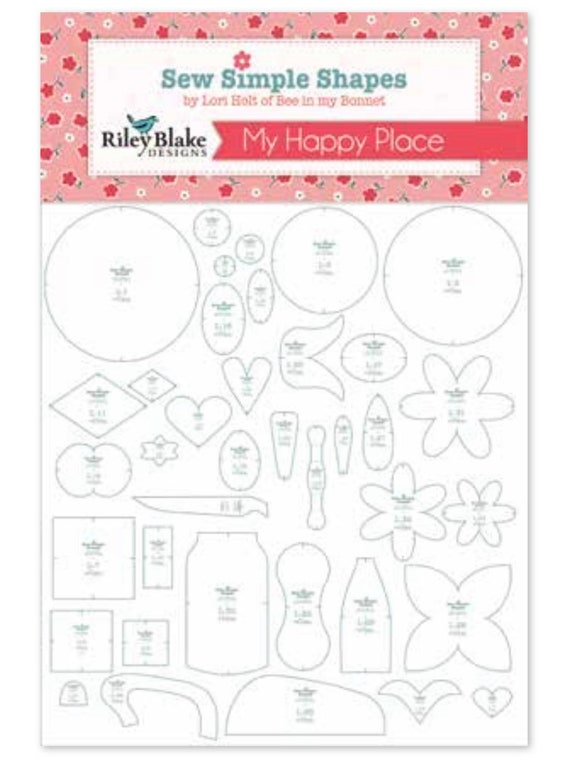 Stitch Sew Simple Shapes by Lori Holt of Bee in my Bonnet for Riley Blake Designs- ST-22051