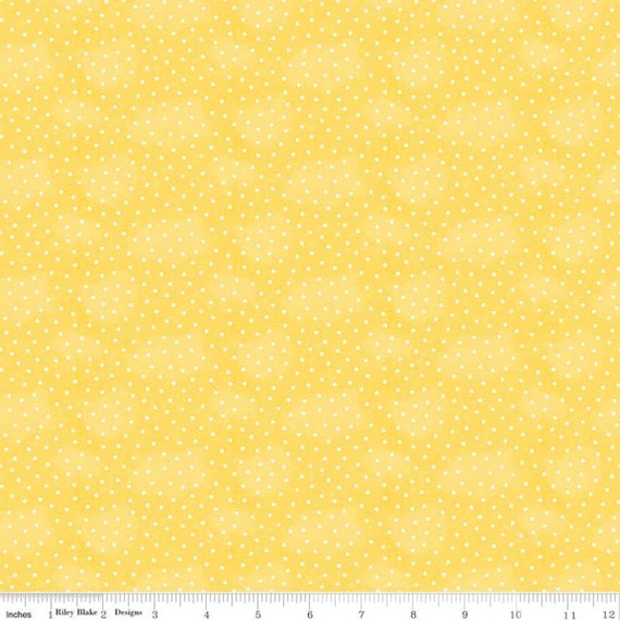 Painters Palette- 1/2 Yard Increments Cut Continuously- C8940 Yellow Baby Buttons- J. Wecker Frisch for Riley Blake Designs