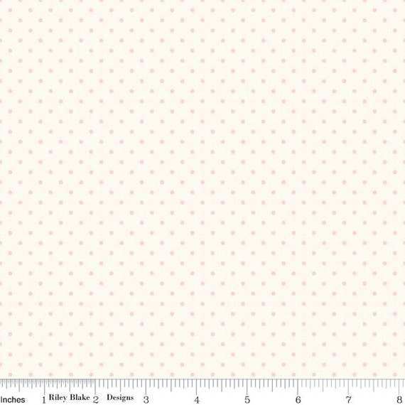 La creme Swiss Dot BABY PINK by Riley Blake Designs- C600-75- 1/2 Yard Increments, Cut Continuously