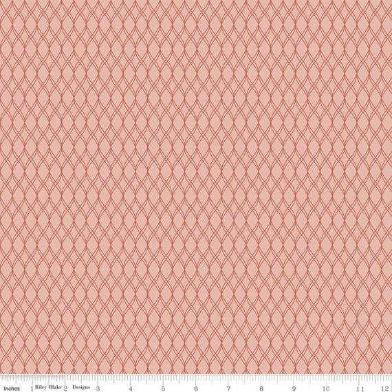 Primrose Hill - 1/2 Yard Increments, Cut Continuously Blush Garden Trellis - C11063  by Melanie Collette for Riley Blake Designs