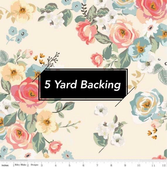 5 Yard Backing- Gingham Gardens- C10350 Cream Main by My Minds Eye for Riley Blake Designs