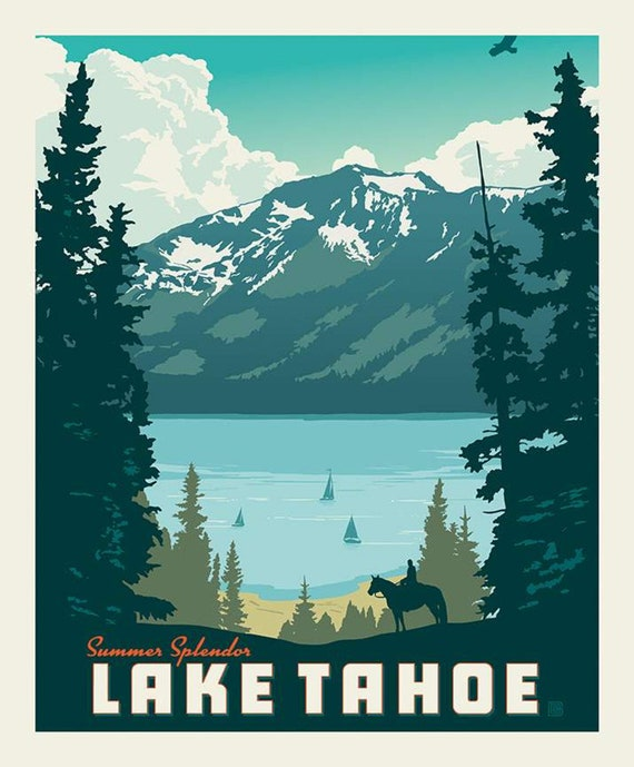 """Destinations Lake Tahoe Poster Panel- 36"""" x 43.5"""" - by Anderson Design Group for Riley Blake Designs- P10022"""