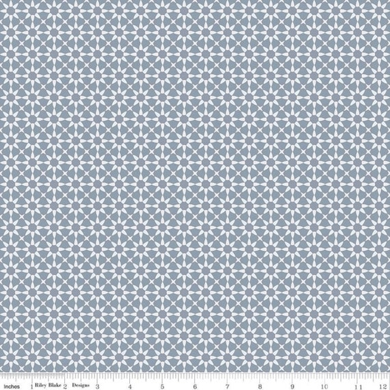 Gingham Foundry -1/2 Yard Increments, cut continuously - Blue Stars - C11135  by My Minds Eye for Riley Blake Designs