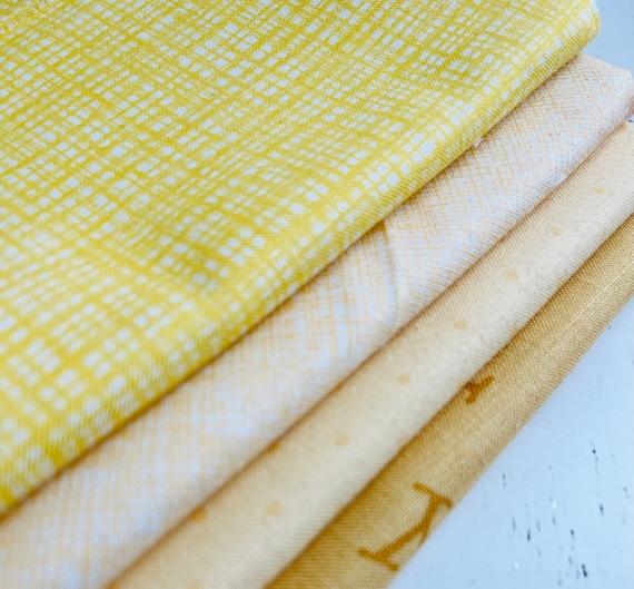 1/4 Yard Bundle (4 Fabrics) Yellows Riley Blake Designs