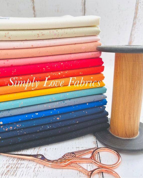 NEW! Speckled- 1/2 Yard Bundle RS5027-16 Fabrics with Metallic by Rashida Coleman-Hale for Ruby Star Society ***Cut by SLF***