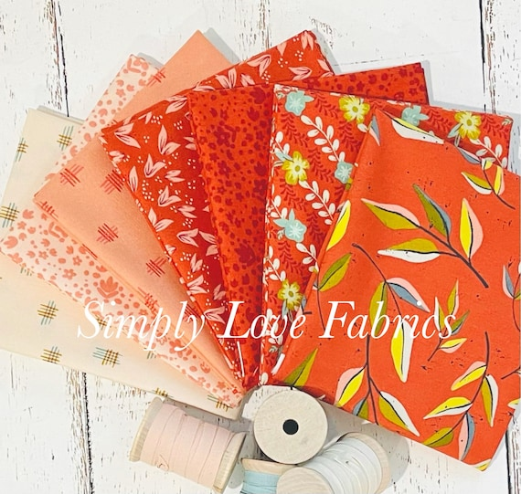 Songbook- Fat Quarter Bundle (7 Fabrics Red) Fancy that Design House for Moda