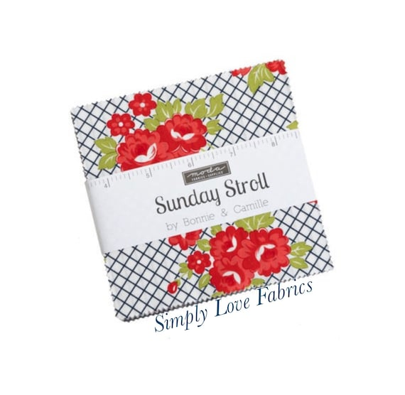 Sunday Stroll- Charm Pack (55220PP- 42 Fabrics) by Bonnie and Camille for Moda
