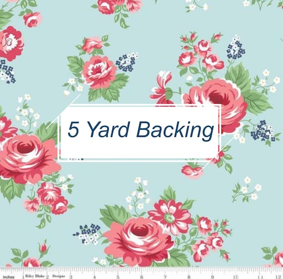 5 Yard Backing- Notting Hill- (C10200 Songbird Main) by Amy Smart for Riley Blake Designs
