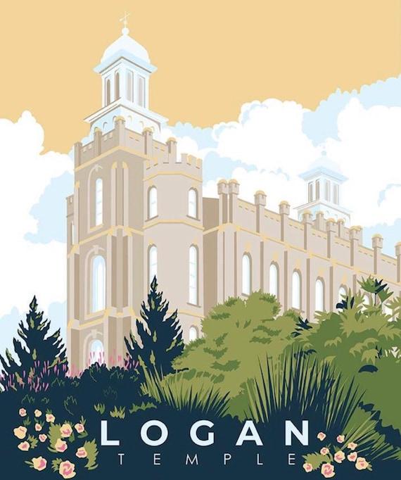 "Logan Temple PANEL- 36"" x 43.5"" - Temples by Amanda Herring for Riley Blake Designs- P9861"