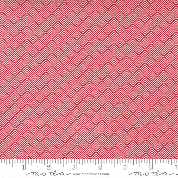 Christmas Morning- 1/2 Yard Increments, Cut Continuously (5146 16 Comfort - Cranberry) by Lella Boutique for Moda