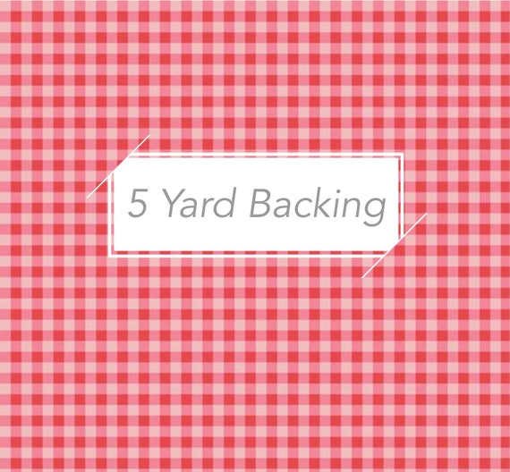 5 Yard Backing- Strawberry Honey-(C10245 Red Gingham) by Gracey Larson for Riley Blake Designs
