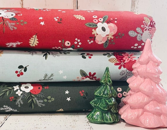 5 Yard Backing- Warm Wishes -(C10781 Floral) by Simple Simon and Company
