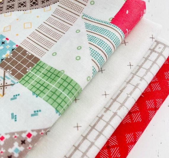 1/4 Yard Bundle (4 Fabrics) Mixed by Lori Holt for Riley Blake Designs