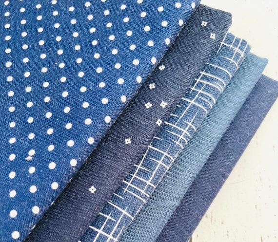 1/4 Yard Bundle (5 Fabrics) Navy Riley Blake Designs