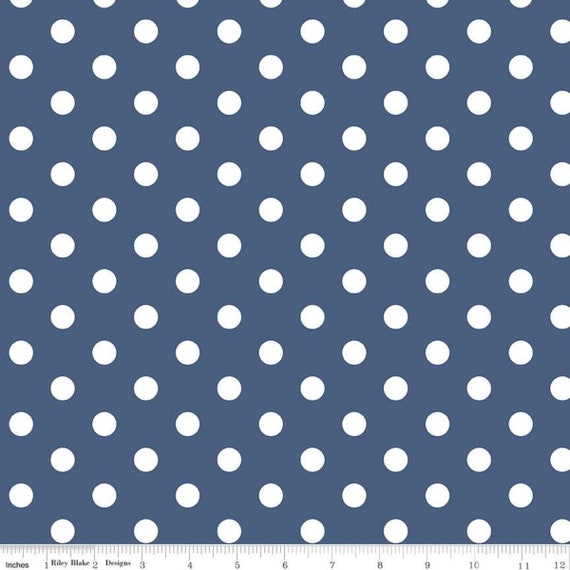 Notting Hill-1/2 Increments, Cut Continuously-(C10203 Denim Dots) by Amy Smart for Riley Blake Designs