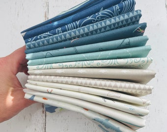 Riptide- 1/4 Yard Bundle (14 Fabrics) by Citrus and Mint Designs for Riley Blake Designs