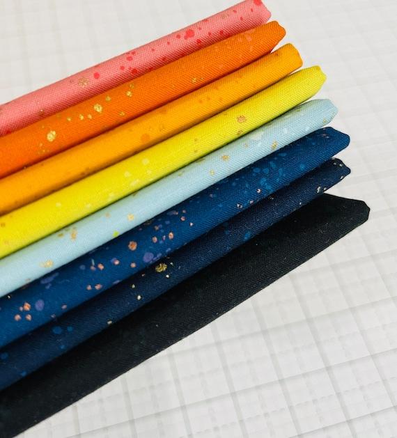 New! Speckled- 1/4 Yard Bundle (8 Fabrics with Metallic) by Rashida Coleman-hale for Ruby Star Society
