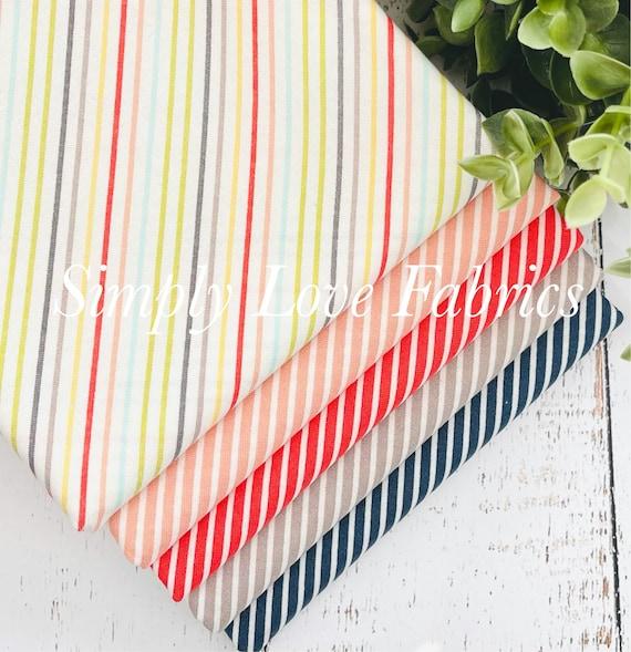 Happy Days- 1/2 Yard Bundle (5 Stripe Fabrics) by Sherri and Chelsi for Moda