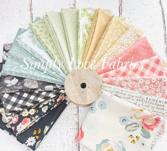 Gingham Gardens- Fat Quarter Bundle- 19 Fabrics by My Minds Eye for Riley Blake Designs