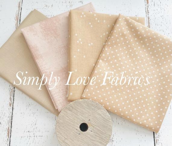 Fall Basics Fat Quarter Bundle- 4 Beach Fabrics- Riley Blake Designs