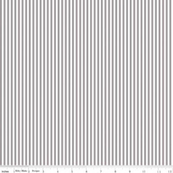 """1/8"""" Stripe by Riley Blake Basic- C495 Gray - 1/2 Yard Increments, Cut Continuously"""