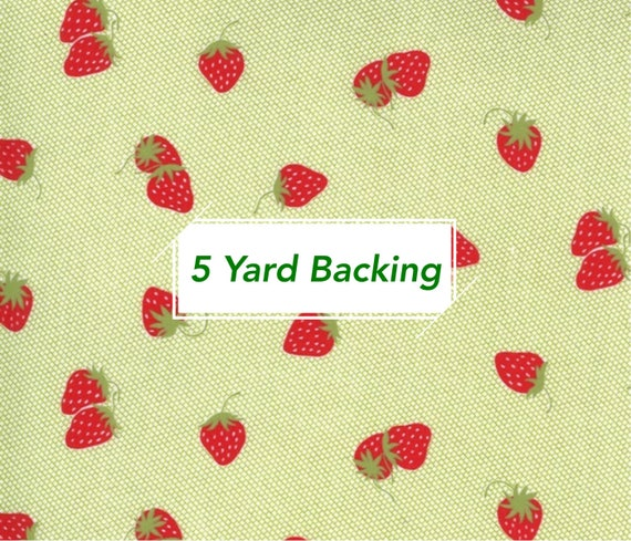 5 Yard Backing- Sunday Stroll- 55223-19 Berry Patch Green by Bonnie and Camille for Moda