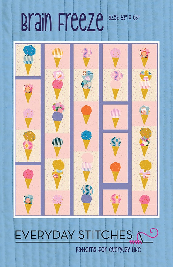 Brain Freeze Quilt Paper Pattern by Everyday Stitches- Es-418-BFZ- 2 Size Options