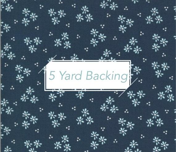 5 Yard Backing- Happy Days- 37603-21 Fressia Navy Sherri and Chelsi for Moda