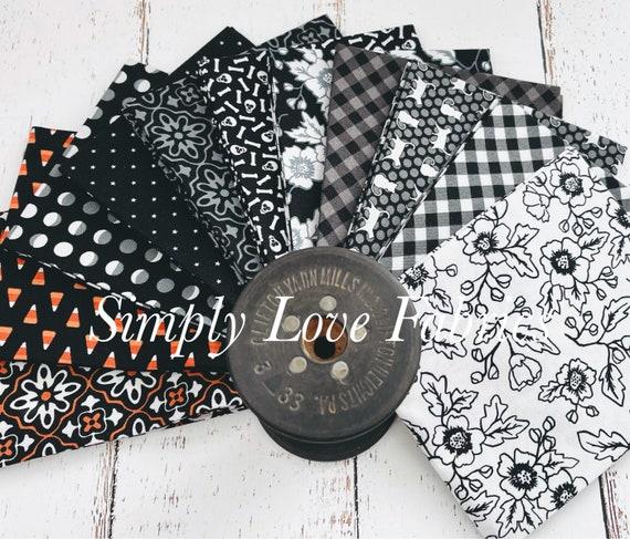 Midnight Magic 2 -Fat Quarter Bundle  (11 Black Fabrics) by April Rosenthal for Moda