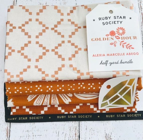 Golden Hour- 1/2 Yard Bundle (4 Fabrics) by Alexia Marcelle Abegg for Ruby Star Society