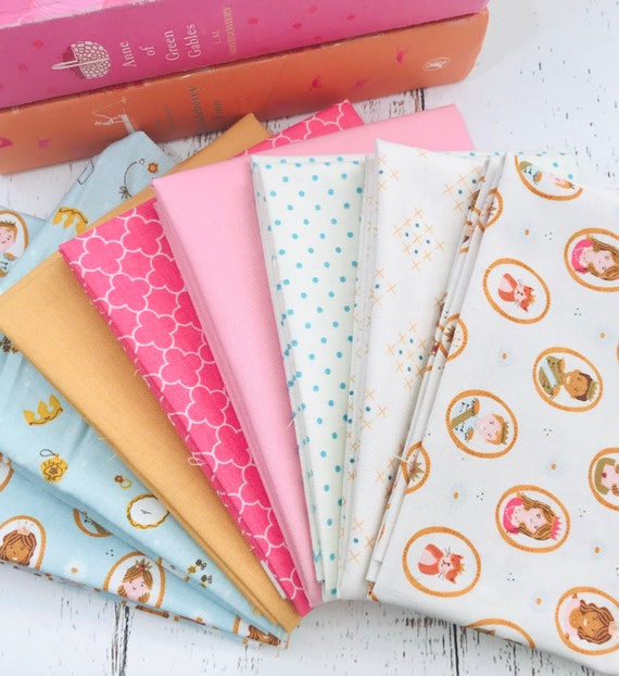 Fat Quarter Bundle (8 Fabrics) Guinevere by Citrus and Mint for Riley Blake Designs