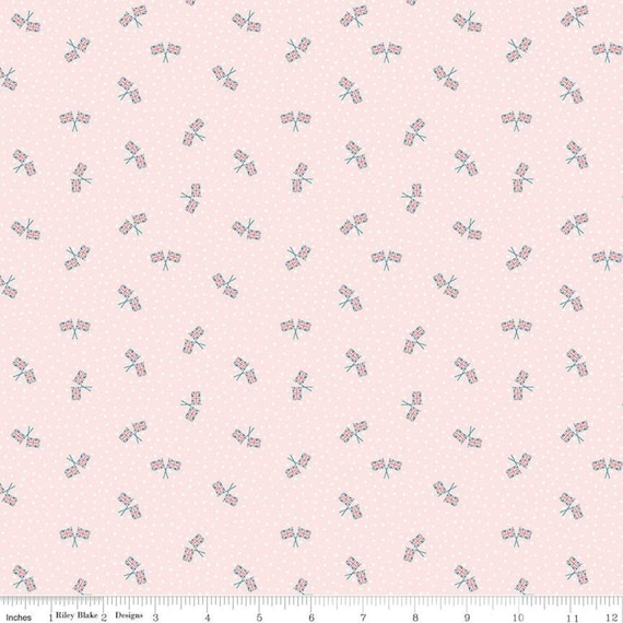 Notting Hill-1/2 Increments, Cut Continuously-(C10206 Blush Union Jack) by Amy Smart for Riley Blake Designs