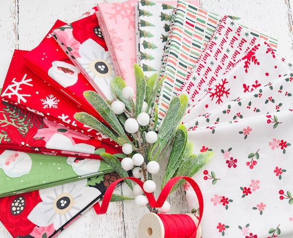 Holly Holiday- Fat Quarter Bundle (13 Fabrics) by Christopher Thompson for Riley Blake Designs