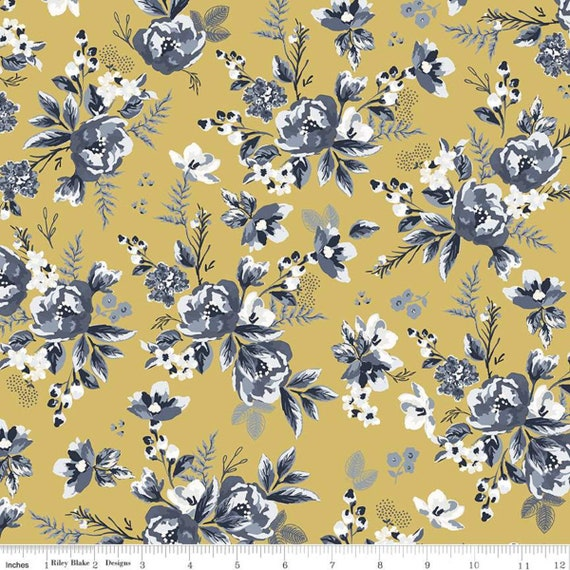 Gingham Foundry - 1/2 Yard Increments, cut continuously - Honey Floral - C11131  by My Minds Eye for Riley Blake Designs