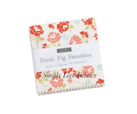 Fresh Fig Favorites- MINI Charm Pack (20410MC- 42 fabrics) by Fig Tree for Moda