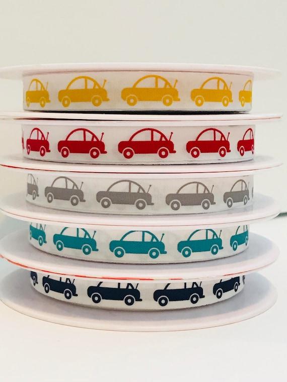 """Car Ribbon by Riley Blake Designs- 25 Yard Spool- 1/2"""" Wide"""