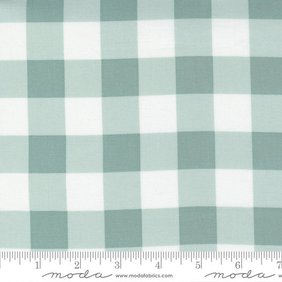 Cozy Up- 1/2 Yard Increments, Cut Continuously (29125 17 Buffalo Check Blue Skies) by Corey Yoder for Moda Fabrics