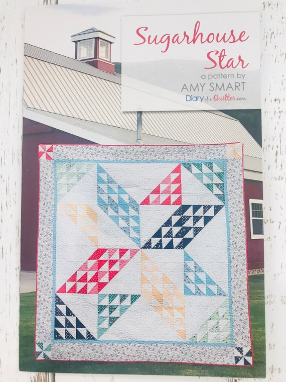 """Sugarhouse Star Quilt Pattern using Sugarhouse Park Fabrics by Amy Smart for Rileyy Blake Designs- 78"""" x 78"""""""